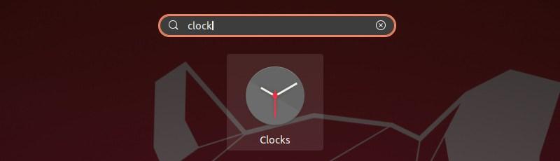 Gnome Clocks App Search Ubuntu