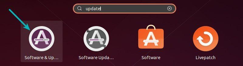 软件及更新设置项