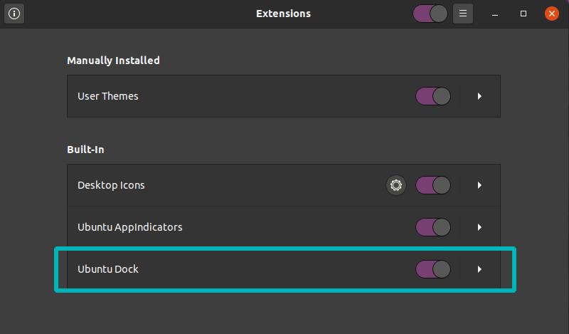 禁用 Ubuntu 20 04 的 Dock