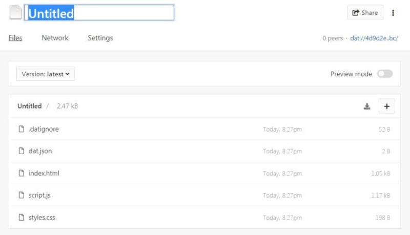Beaker Browser Website Template