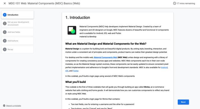 Material Design tutorial