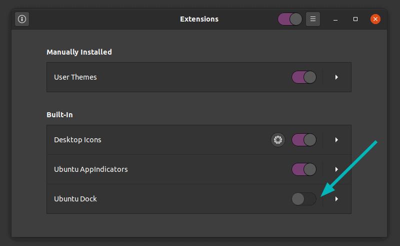Disable Ubuntu Dock