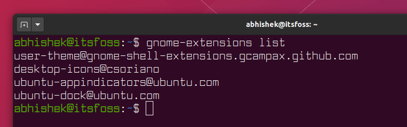 List GNOME Extensions