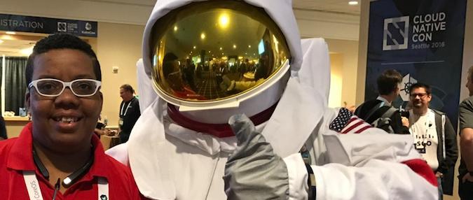 Taz with astronaut