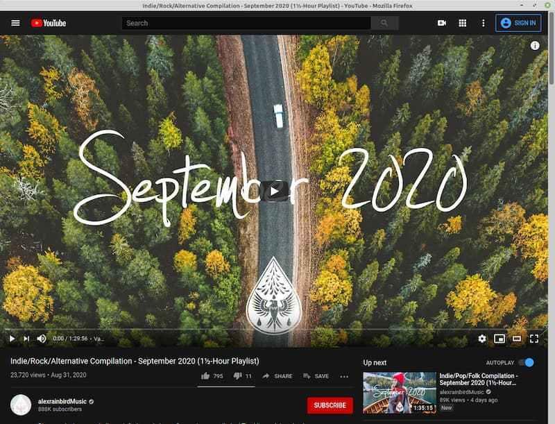 YouTube 网页应用程序