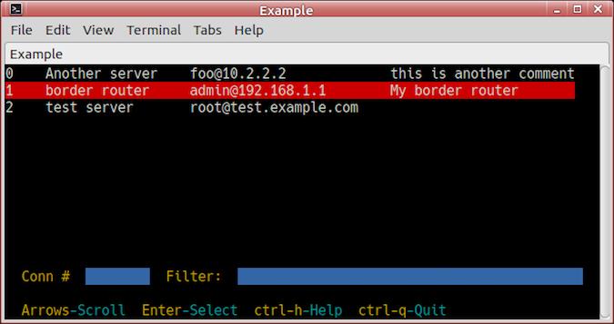 nccm screenshot terminal view
