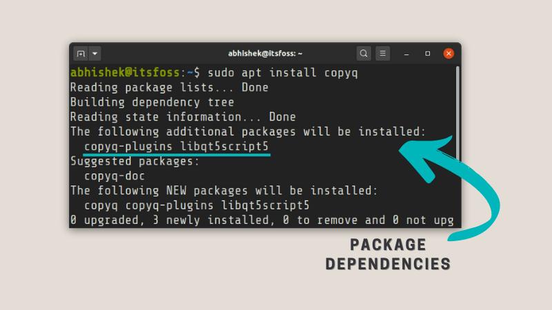 Linux 中包管理器会处理依赖关系