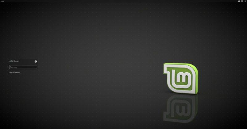 基于 LightDM 的 Linux Mint 登录屏幕