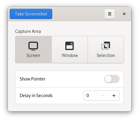 GNOME Screenshot tool