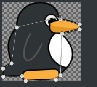 在 GIMP 中创建一个路径