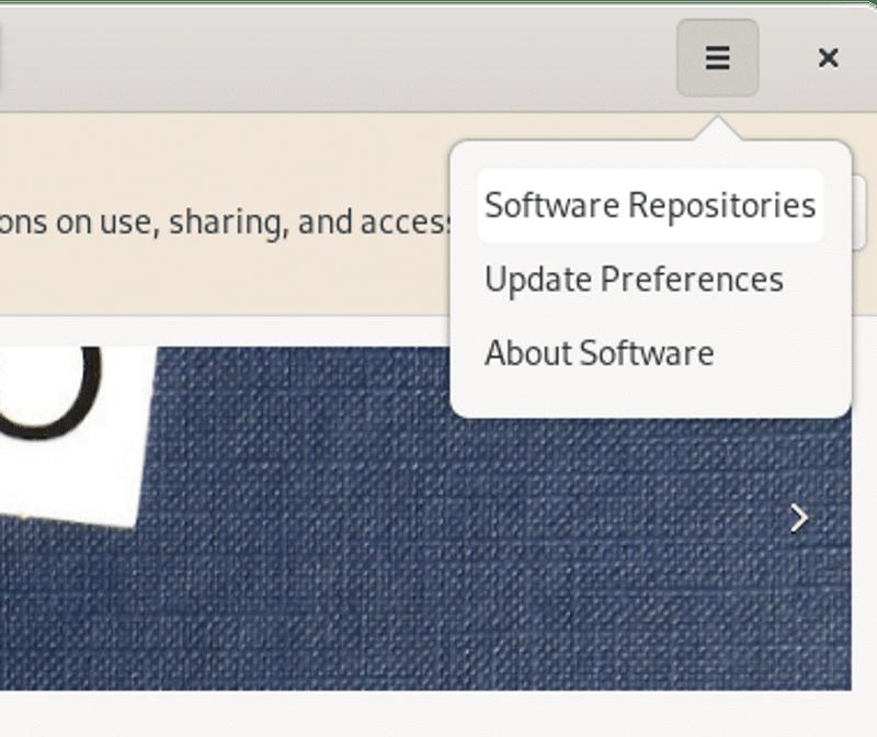 Gnome 软件的菜单