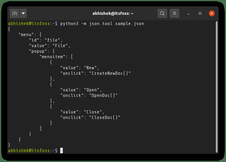 Pretty printing JSON with Python