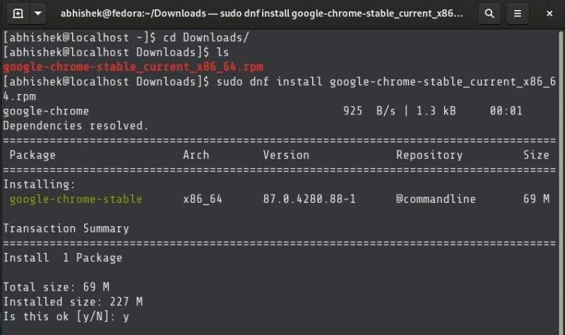 使用 DNF 命令安装 RPM 文件
