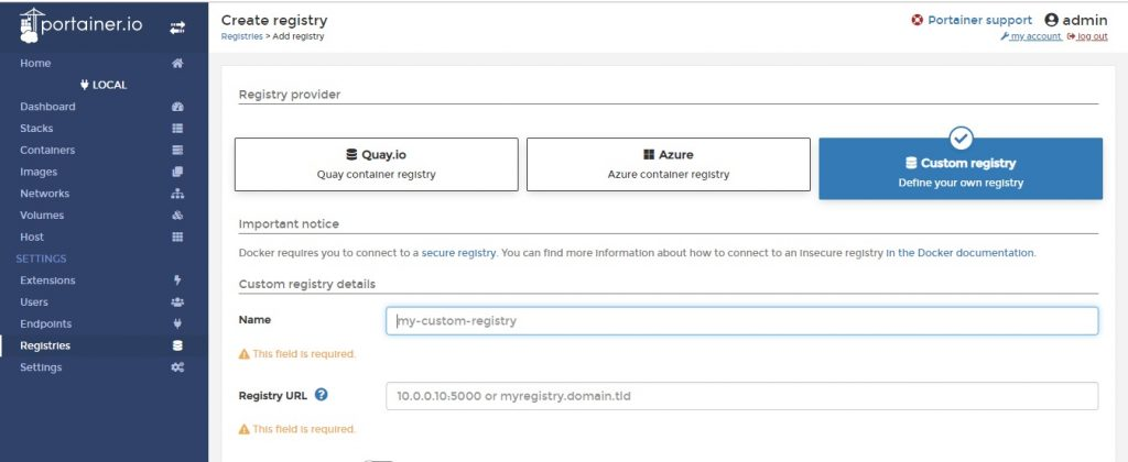 Registry-Portainer-GUI