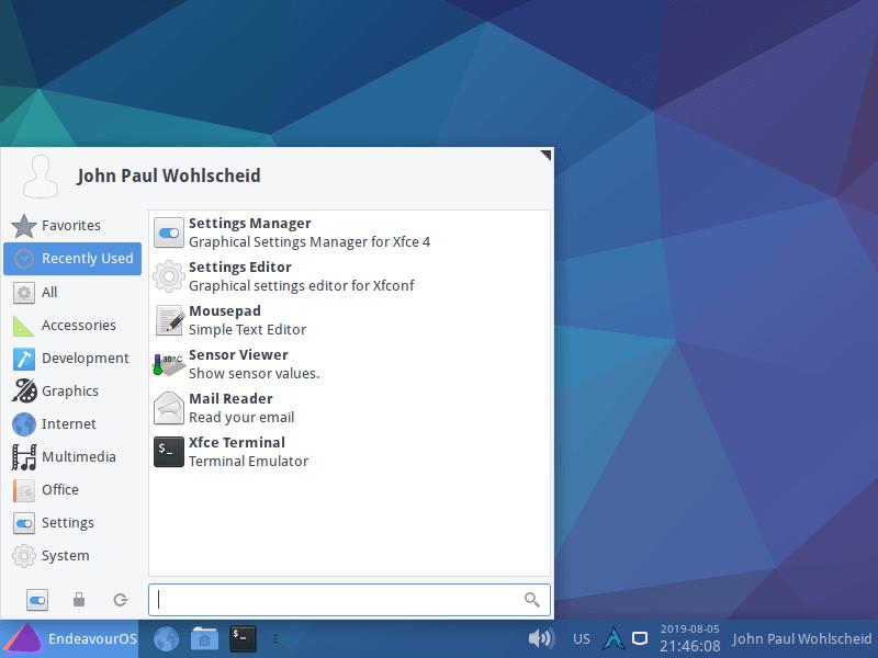 Endeavouros Desktop