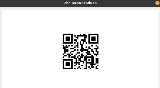 Generating QR code with Zint