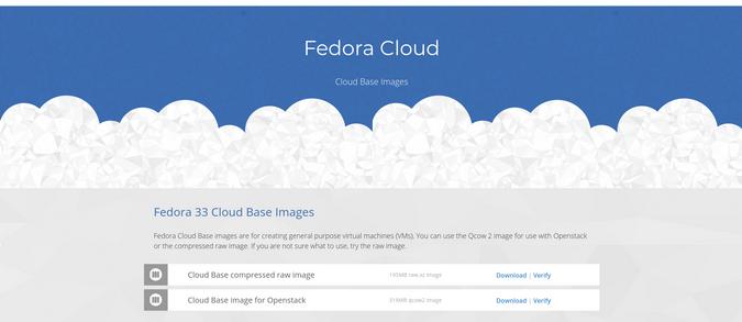 Fedora Cloud 网站截图