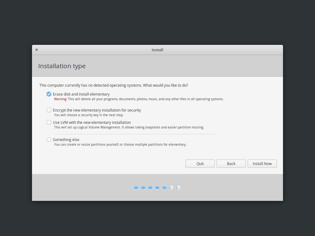 Elementary OS 安装程序