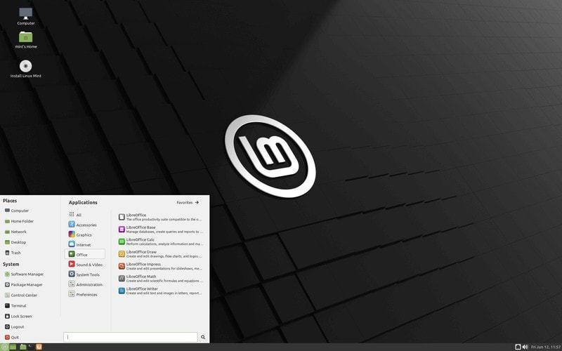 Screenshot of Linux Mint MATE desktop