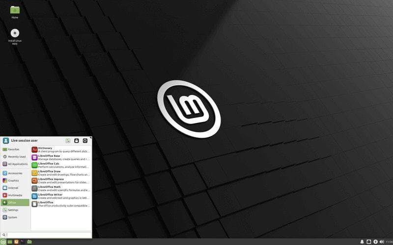 Linux Mint 20 Xfce desktop