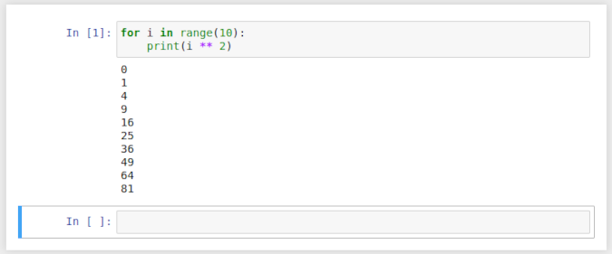 Executing commands in Jupyter
