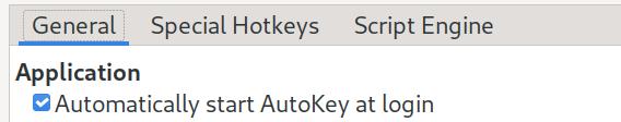 登录时自动启动 AutoKey
