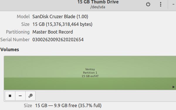 GNOME 磁盘中的 USB 挂载点