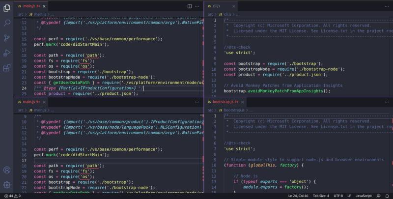 分割 VS Code 编辑区