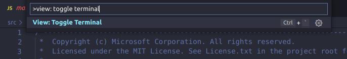 使用命令面板切换终端