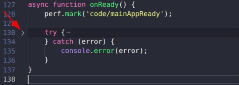 折叠一块代码