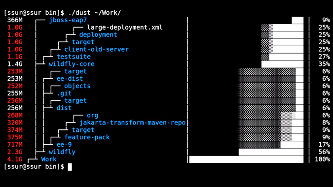 Dust output from a specific directory