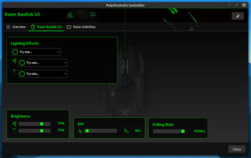 Customization options for a mouse