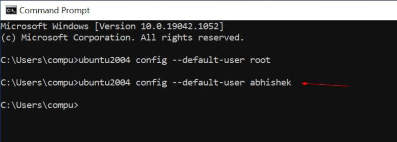 Set regular user as default user