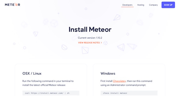 Meteor page