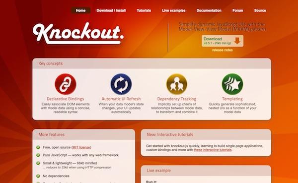 KnockoutJS page