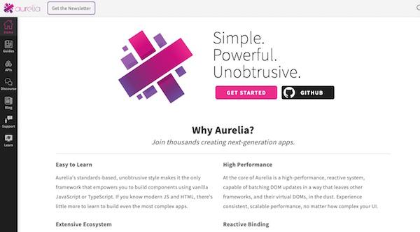 Aurelia page