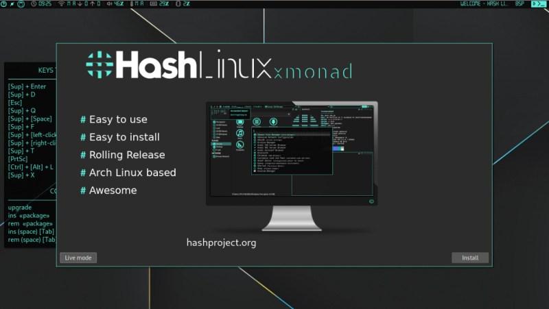 Hash Linux GUI Installer