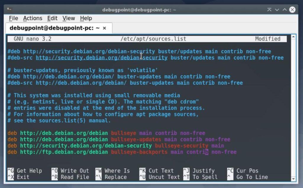 Add Debian 11 lines