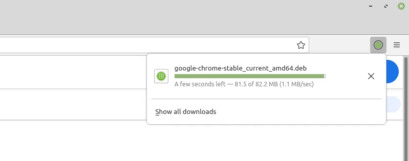 Wait for Google Chrome download to finish