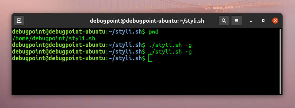 Change your Linux Desktop Wallpaper Every Hour using styli.sh