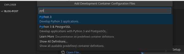 选择 Python 3 定义
