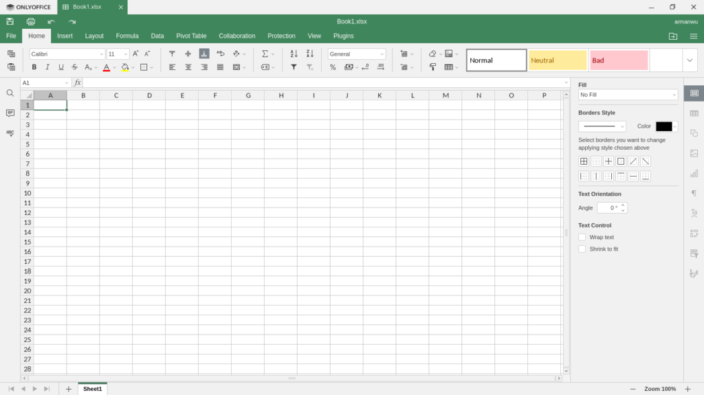 ONLYOFFICE Spreadsheets Editor