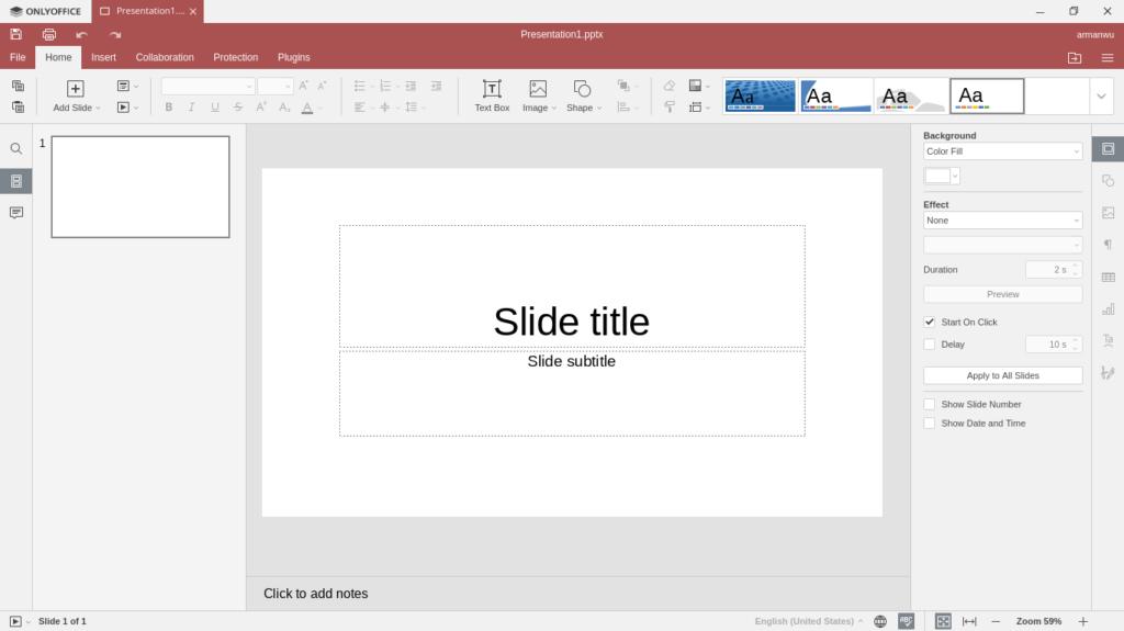 ONLYOFFICE Presentations Editor