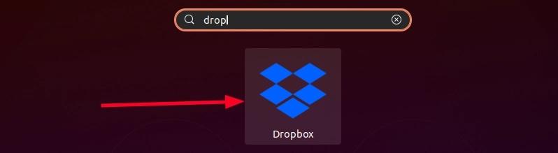 Start Dropbox for installation