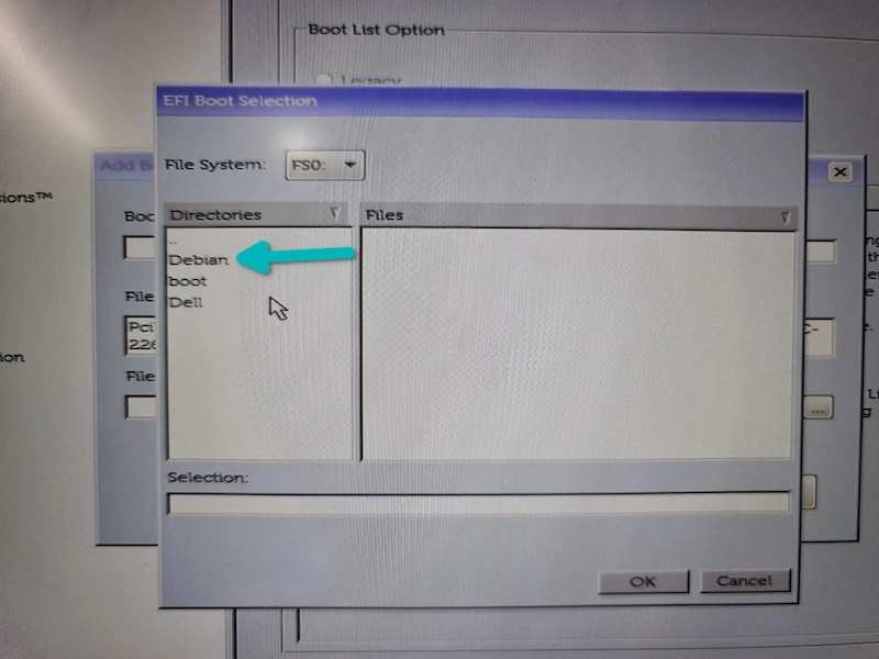 选择 Debian 目录