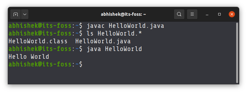 Running java programs in the Linux terminal