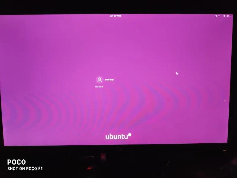 Ubuntu 的登录界面