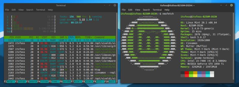 Linux Mint 资源使用情况